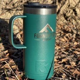 Foundation 16oz Insulated Tumbler with Handle – Forest Green