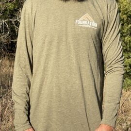 Foundation Triblend Long Sleeve Shirt – Military Green