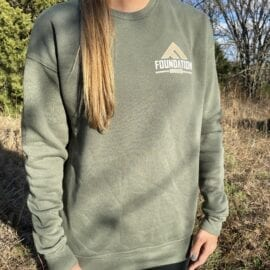 Foundation Triblend Sweatshirt – Military Green