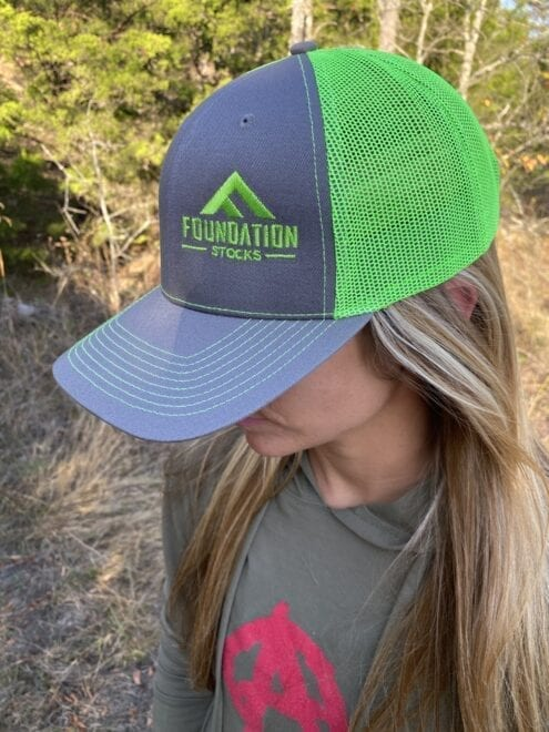 Neon Green and Gray Trucker Hat