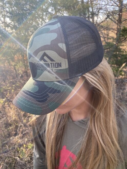 Trucker Hat Camo Grey and Black Style