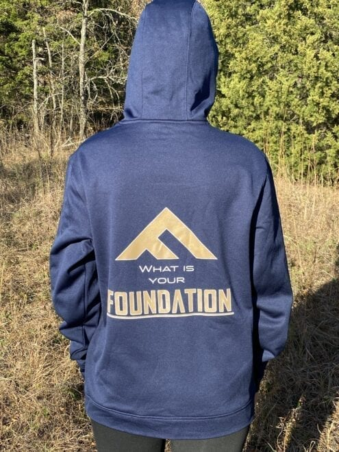Foundation Stocks Performance Fleece Hoodie Navy - What is Your Foundation Style