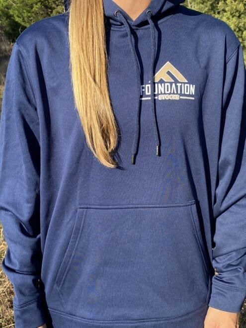 Foundation Stocks Navy Hoodie Front