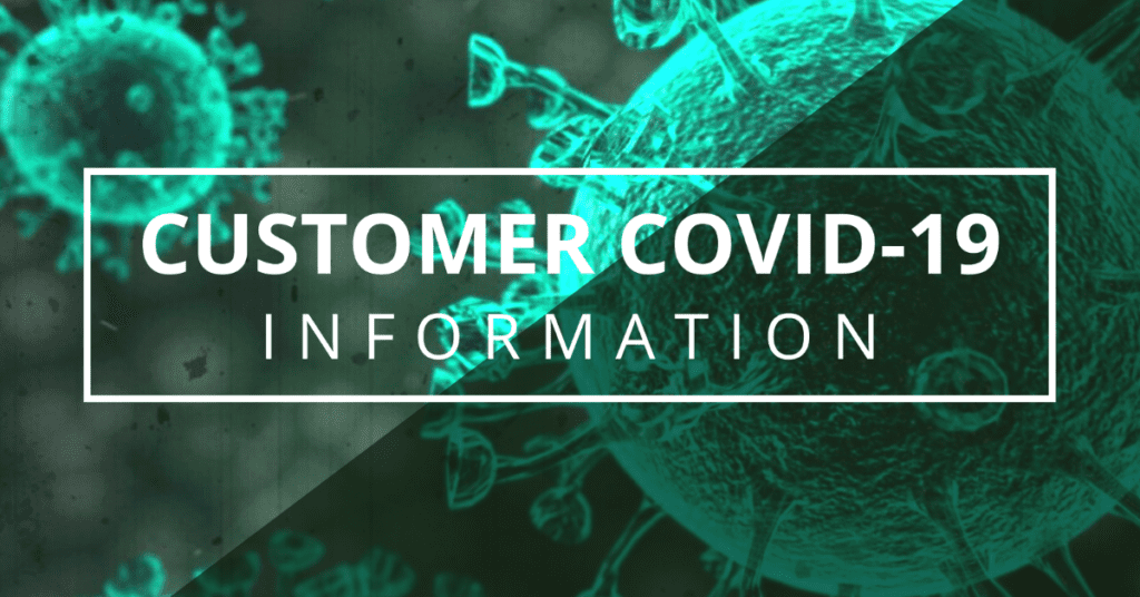 Customer COVID-19 Letter from our owners